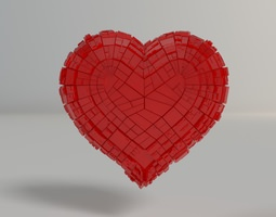 greeble heart 3d print model