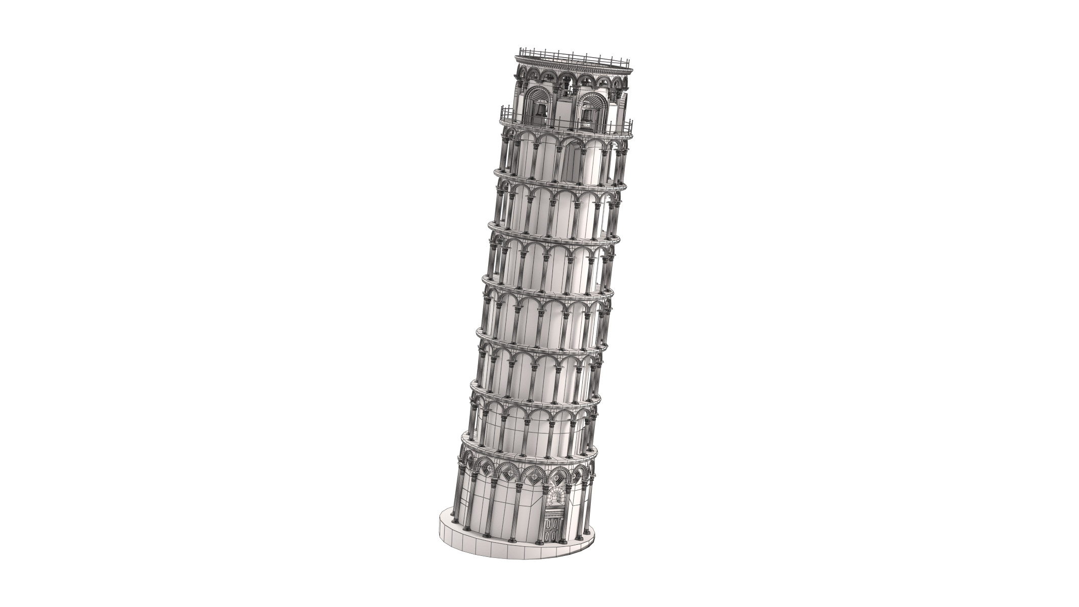 how to make leaning tower of pisa model