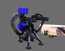 TF2 Sentry gun with munition 3D model
