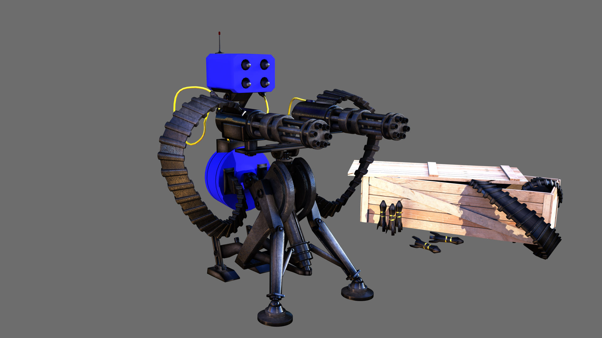 Tf2 Sentry Gun Model Tf2 Sentry Gun With Munition