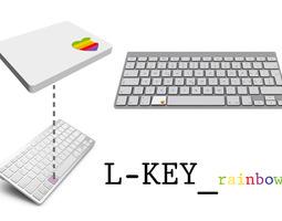 L-Key rainbow 3D print model