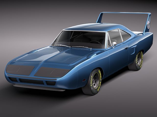 Plymouth Roadrunner Superbird 1970 3d Model Max Obj 3ds