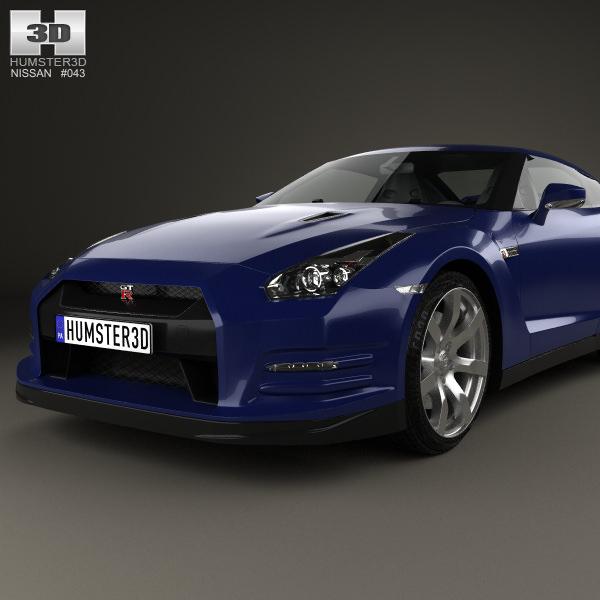 ... Nissan Gt R R35 2013 3d Model Max Obj Mtl 3ds Fbx C4d Lwo Lw ...