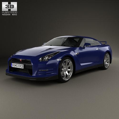 2013 Nissan Gt R Interior: Nissan GT-R R35 2013 3D Model