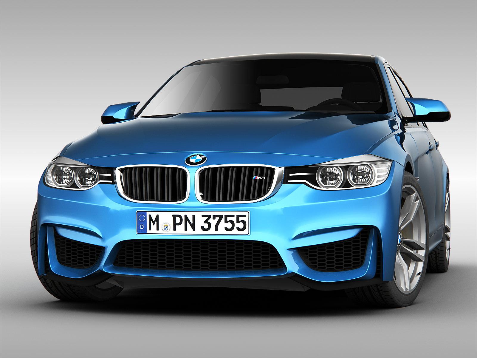 Bmw F30 Gadgets >> BMW M3 Sedan F30 2015 3D Model .max .obj .3ds .fbx - CGTrader.com