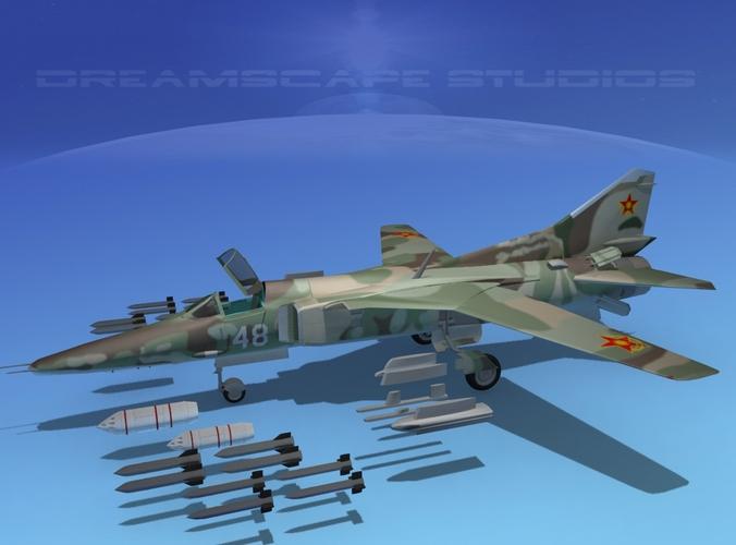 Mig-27 Flogger  V11 Kazakhstan3D model