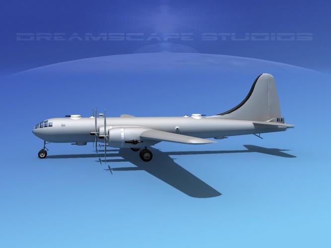 Boeing B-29 Superfortress VBM 3D Model rigged max obj