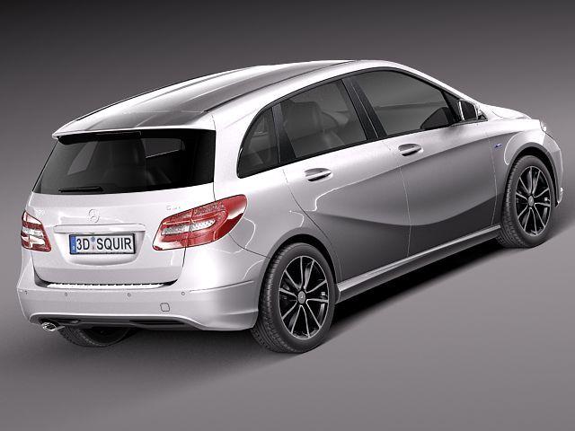 Mercedes benz b class 2012 3d model 3d model max obj for Mercedes benz 2012 models