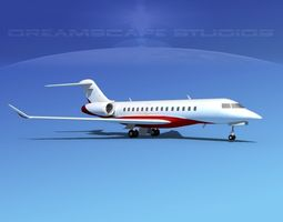 Bombardier Global 5000 V03 3D model