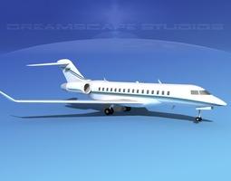 3D model Global Express 8000 V11