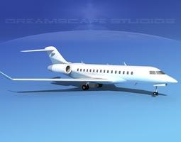3D model Global Express 8000 V12