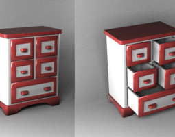 small bureau for jewelry (15*12*6 cm) 3D Model