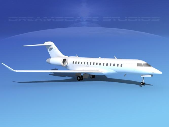 Global Express 8000 Unmarked3D model