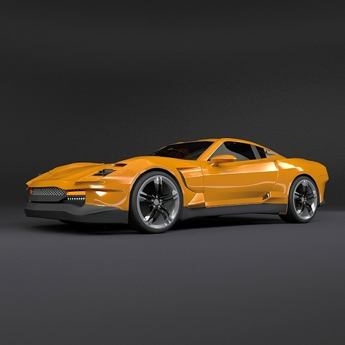 vehicle yellow sports car - photo #7