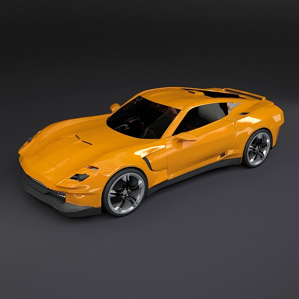 vehicle yellow sports car - photo #4