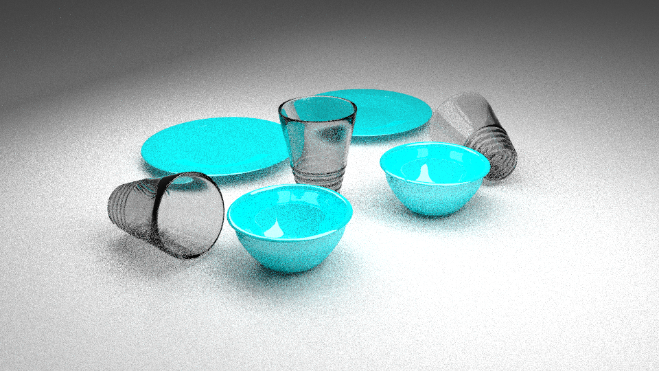 ... turquoise dishes 3d model some realistic neon turquoise dishes 2