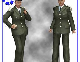 Dress Uniform V4 for Poser 3D Model