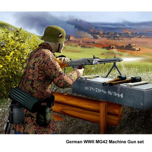 MG-42 machine gun set3D model