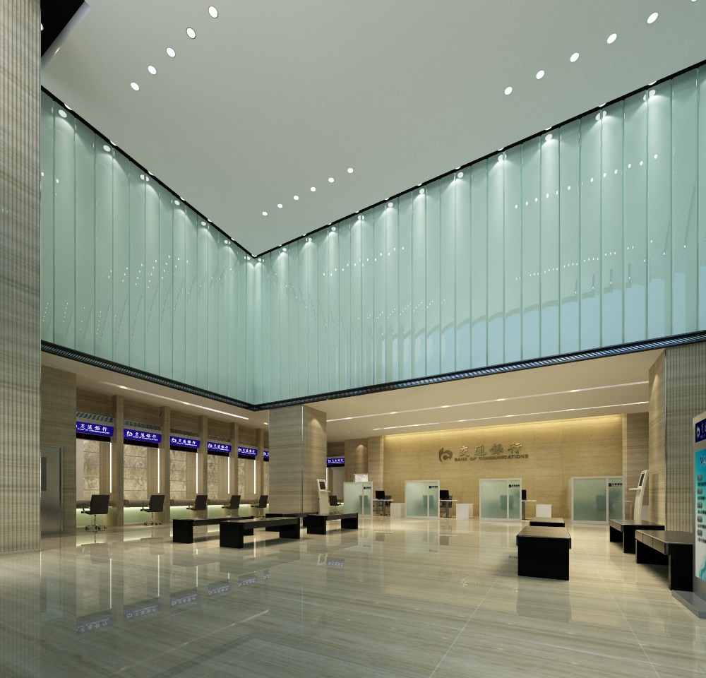 Modern Bank Interior 3d Model Max Cgtrader Com