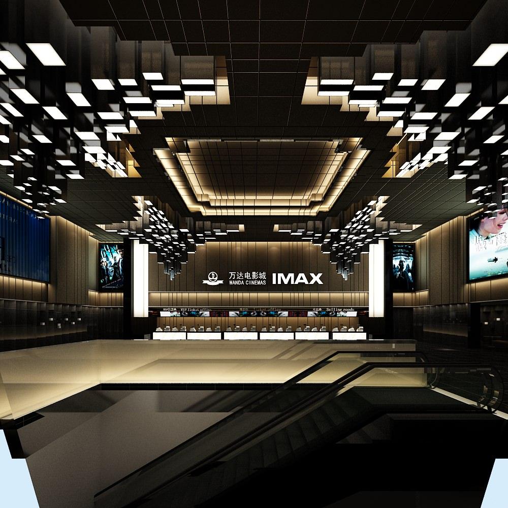 Modern Movie Theatre IMAX 3D Model max CGTradercom