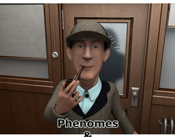 detective holms phenomes for poser 3d