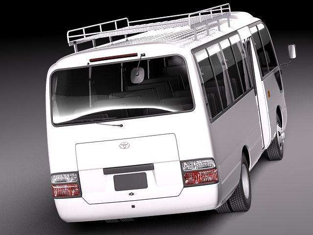 toyota coaster 2012 minibus 3d model 3d model max obj 3ds