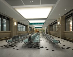 3D model Hospital Hallway