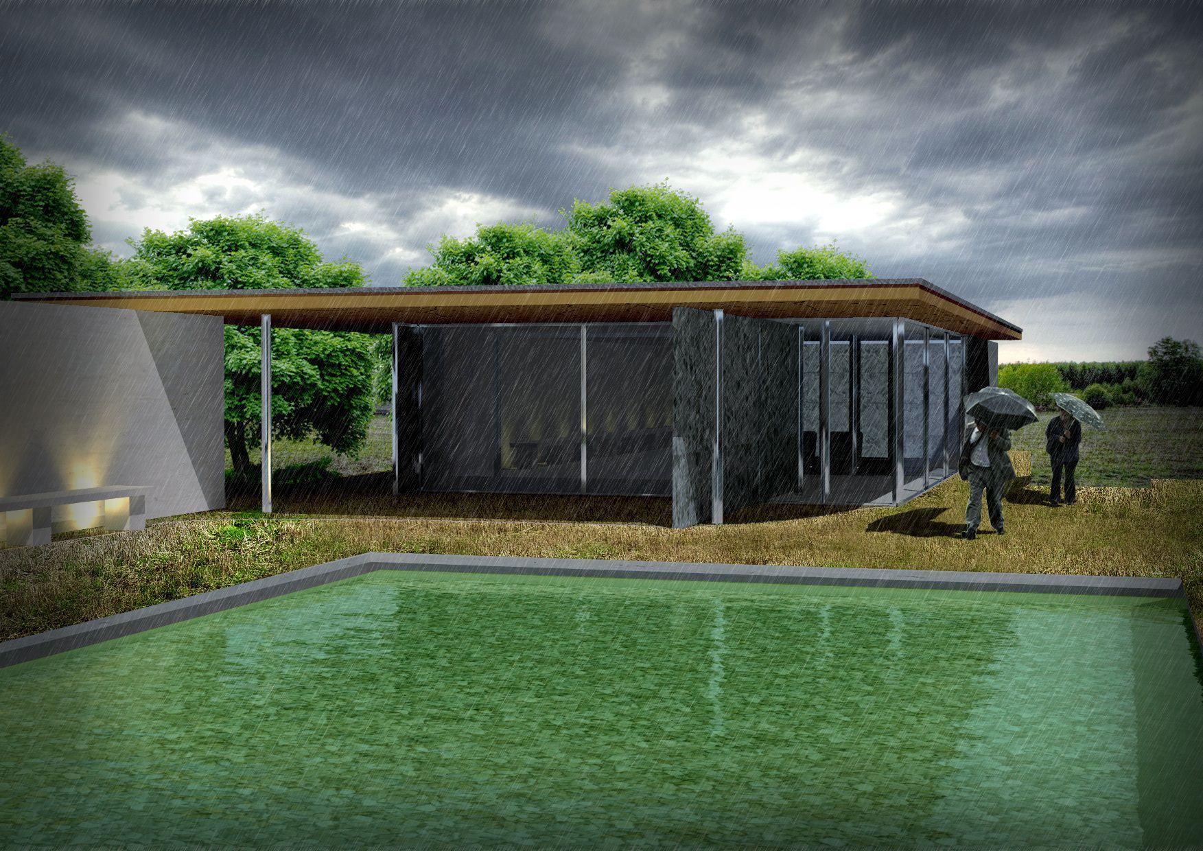 Barcelona pavilion exterior - Barcelona Pavilion 3d Model 3d Model Max 1