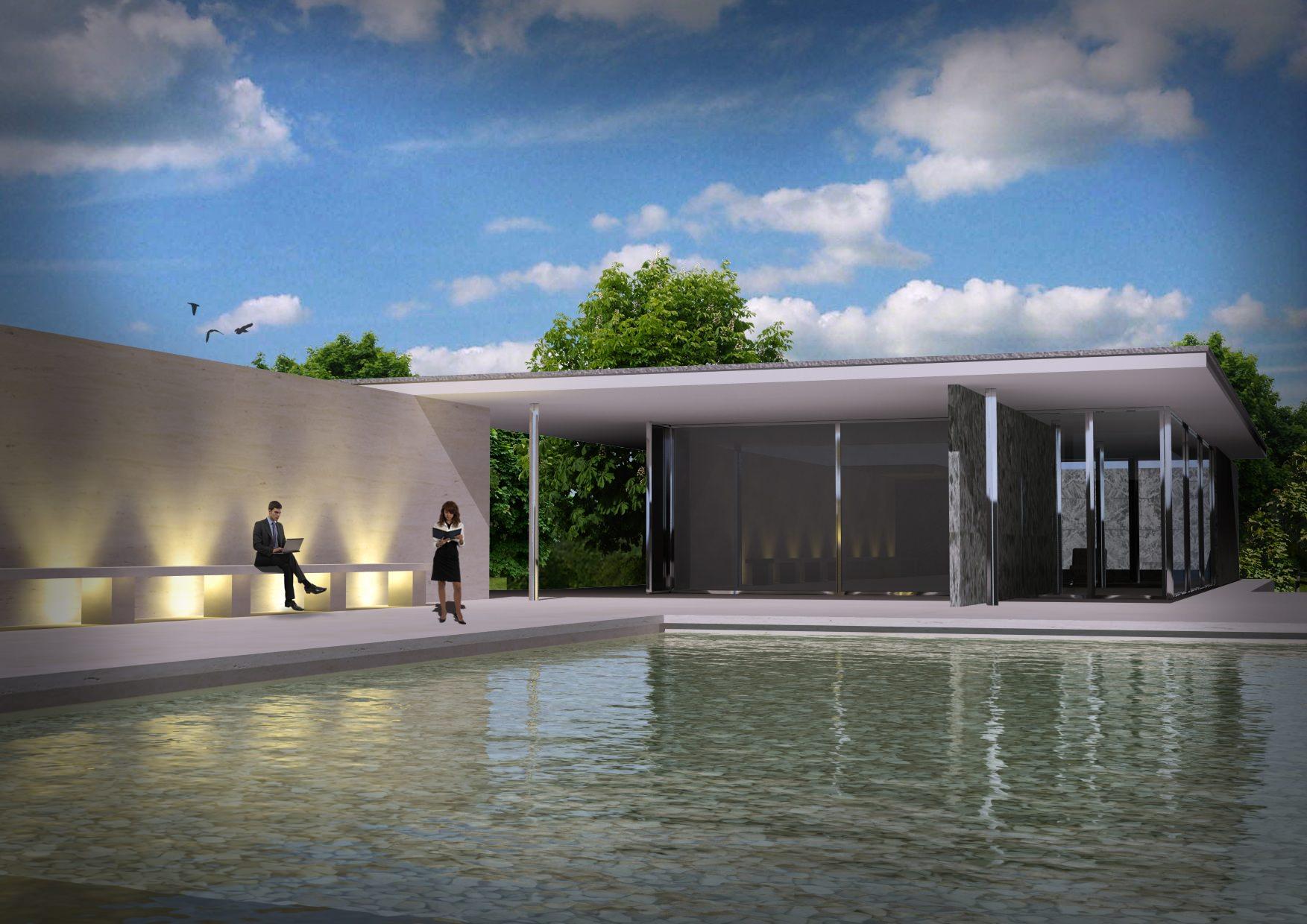 Barcelona pavilion 3d model free 3d model max - 3d max models free download exterior ...