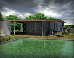 Barcelona Pavilion 3D model 3D Model