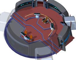 Starship Bridge 14 for Poser 3D Model