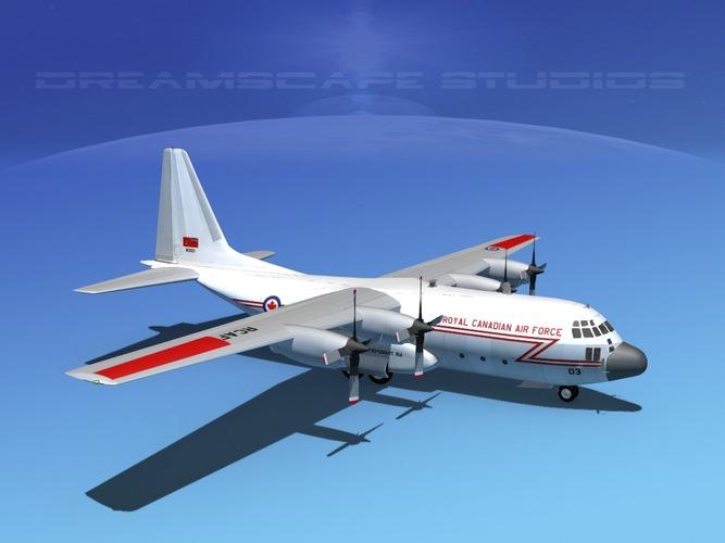 Lockheed C 130 Hercules Rcaf 3d Model Rigged Max Obj