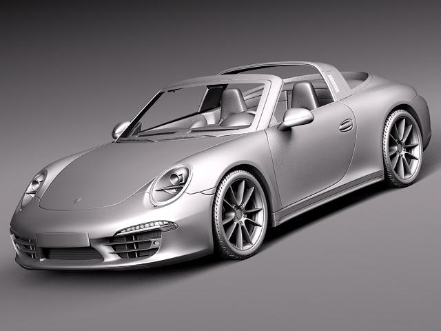 porsche 911 targa 2015 3d model max obj 3ds fbx c4d lwo lw lws 7 - 911 Porsche 2015 White