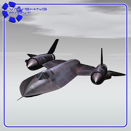 sr-71 for vue 3d model  1