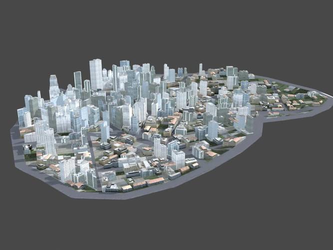 City Scene3D model