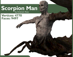 Rigged Scorpion Man 3D Model