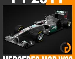 F1 2011 Mercedes MGP W02 - GP Petronas Team 3D Model