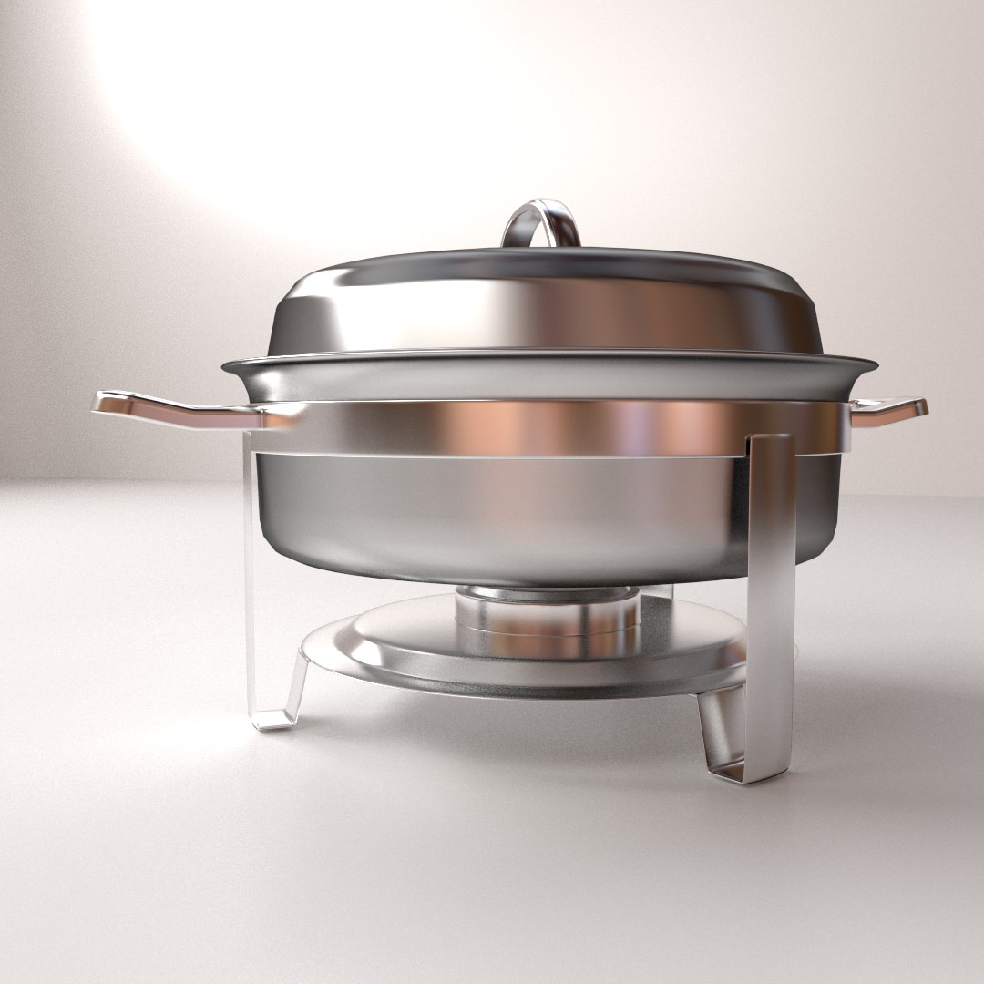 chafing dish 3d model 3ds fbx blend dae 1