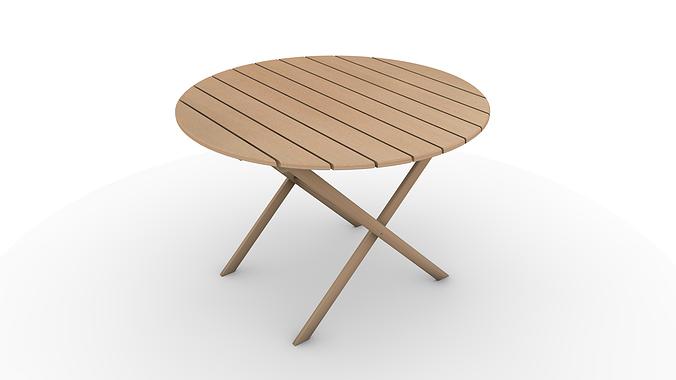 garden outdoor table 3d model c4d 1