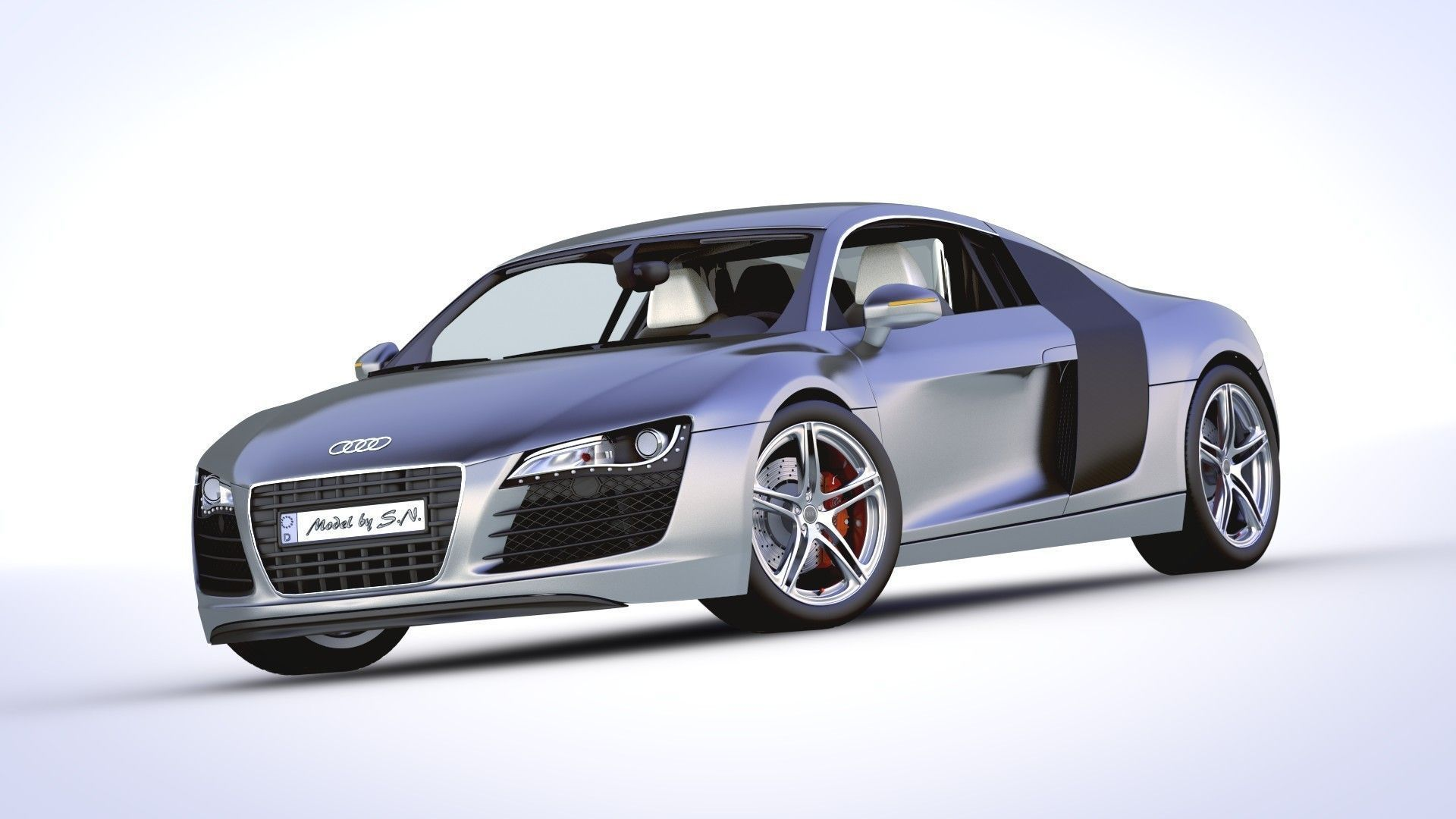 audi r8 v8 high quality 3d model obj fbx blend. Black Bedroom Furniture Sets. Home Design Ideas