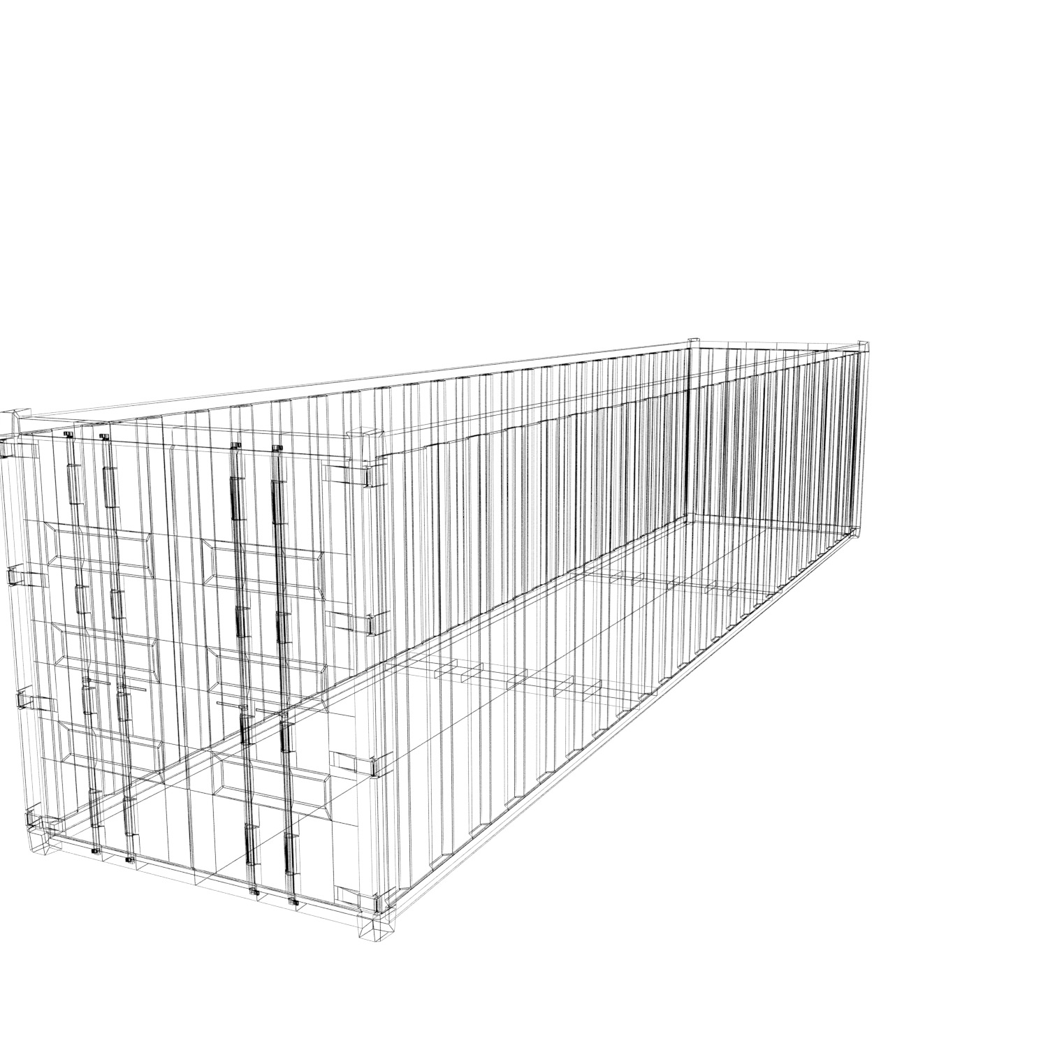 40 ft sea container free 3d model game ready  max  obj