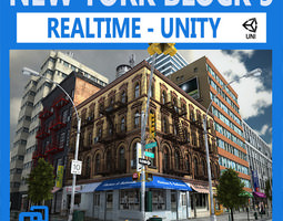 nyc block 5 unity 3d model low-poly