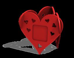 Heart photo frame 3D Model