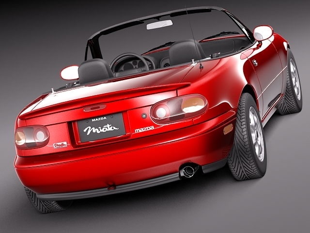 mazda mx 5 miata 1989 1997 3d model 3d model max obj. Black Bedroom Furniture Sets. Home Design Ideas