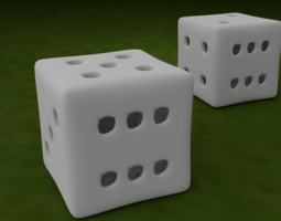 HAPPY LUCKY PRINTABLE DICE 3D model