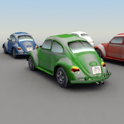 vw beetle game  models cgtradercom