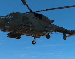 Lynx Wildcat AW159 British Army Helicopter 3D Model