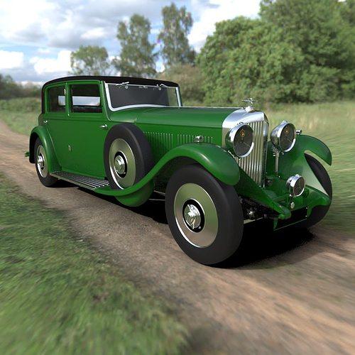 bentley 8 litre vintage car 3d model max obj mtl 1