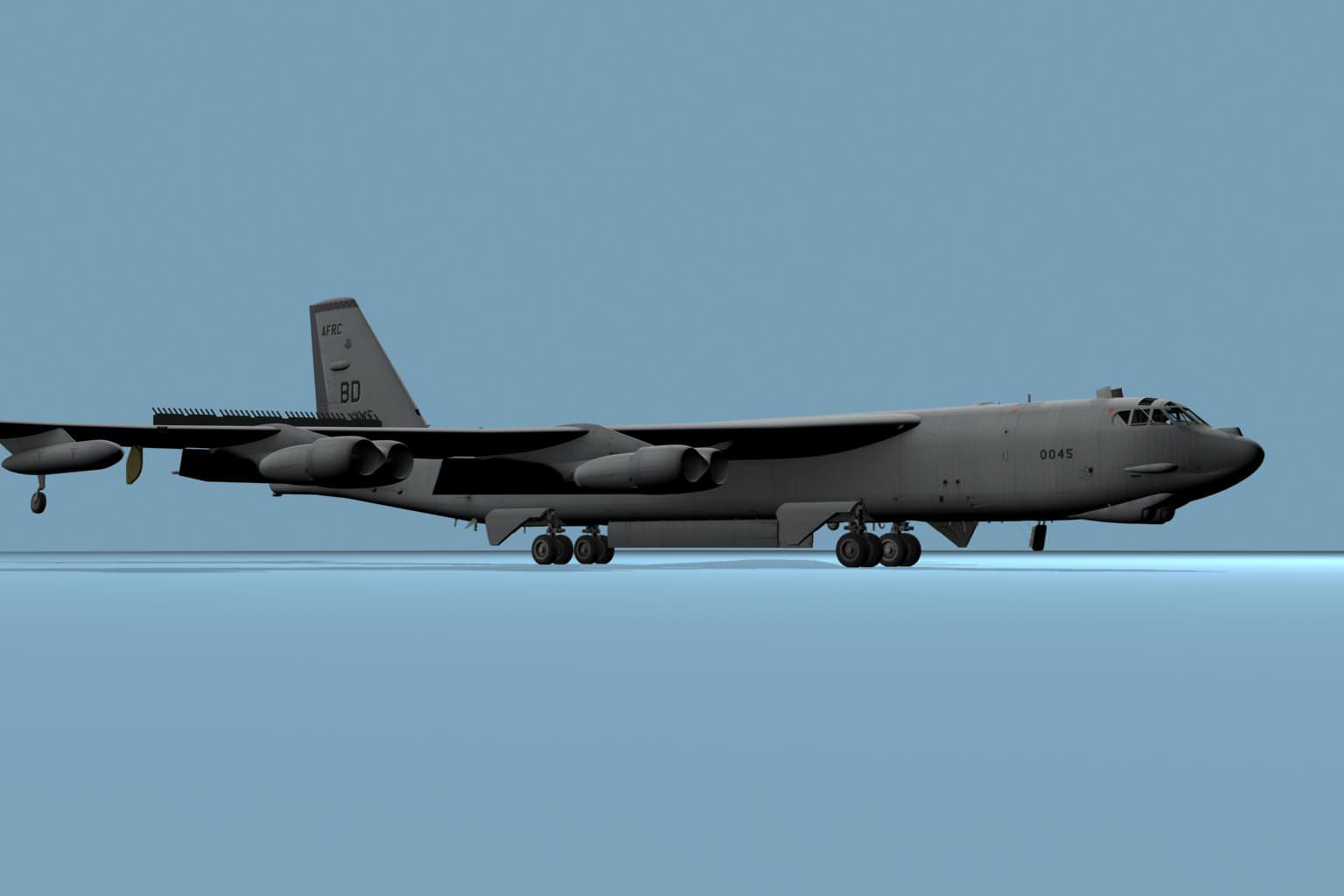 Boeing B52 Stratofortress 3D Model .max .fbx .c4d ...