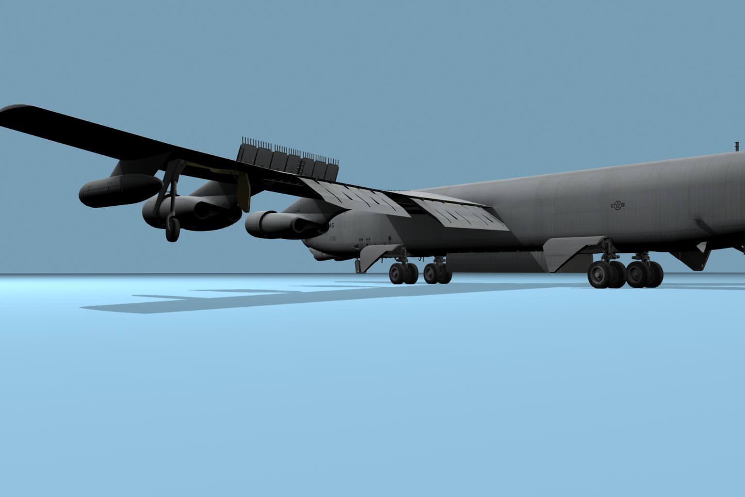 Boeing B52 Stratofortress 3D Model MAX FBX C4D - CGTrader.com
